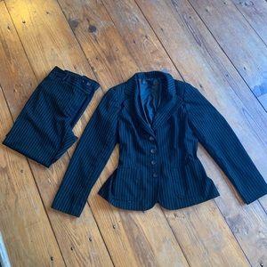 Bundle!!! Apostrophe Black PinStriped Suit